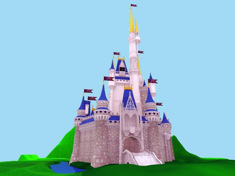 3D Замок Модель